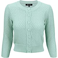 YEMAK Cute Pattern Cropped Daily Cardigan Sweater Vintage Inspired Pinup MK3514 (S-3X)