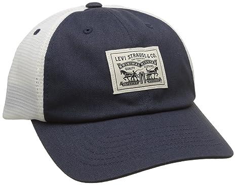 Levi s Men s 2-Horse Patch Cap Flat (Navy Blue) 23d50d6c830
