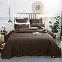 VEEYOO Bedspread Coverlet Set Lightweight 3 Pieces Comforter Quilt Set