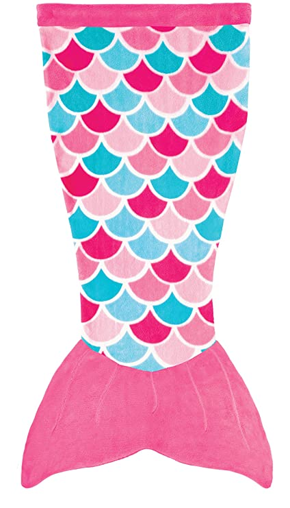 37e0c1f29 Amazon.com: Fin Fun Mermaid Tail Blanket Kids, Girls and Boys - Cuddle Tails  (Kids, Pink Dream): Home & Kitchen