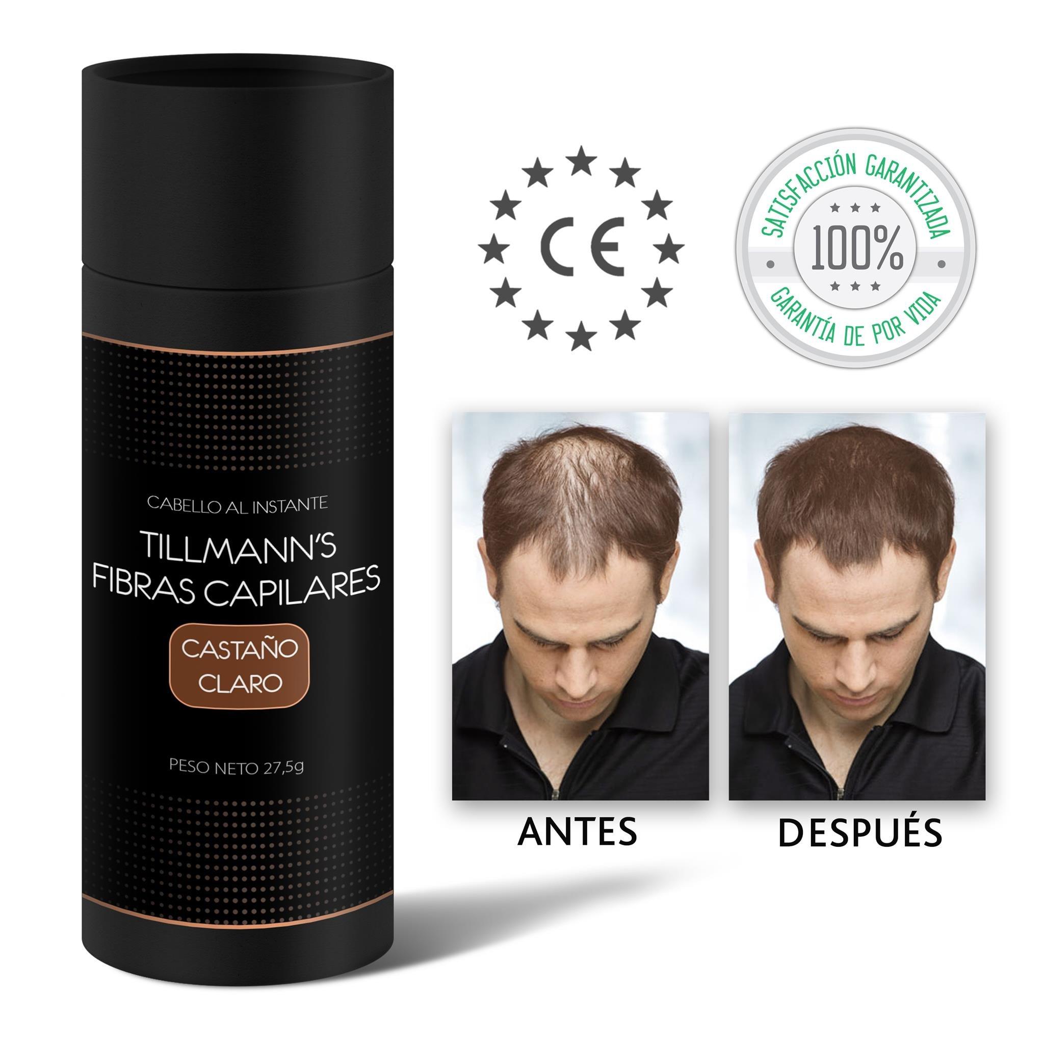 Tillmanns Fibras Capilares Castaño Claro 27,5 gramos – Caida Cabello Hombre – Keratin Fibers