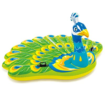 "Intex Peacock Inflatable Island, 76"" X 64"" X 37"", for Ages 6+: Toys & Games"