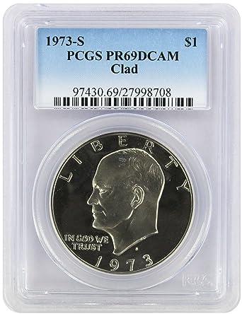 1973-S Clad Proof BU Eisenhower Dollar