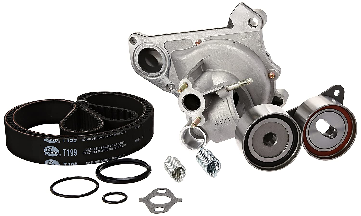 Gates TCKWP199BH Engine Timing Belt Kit with Water Pump