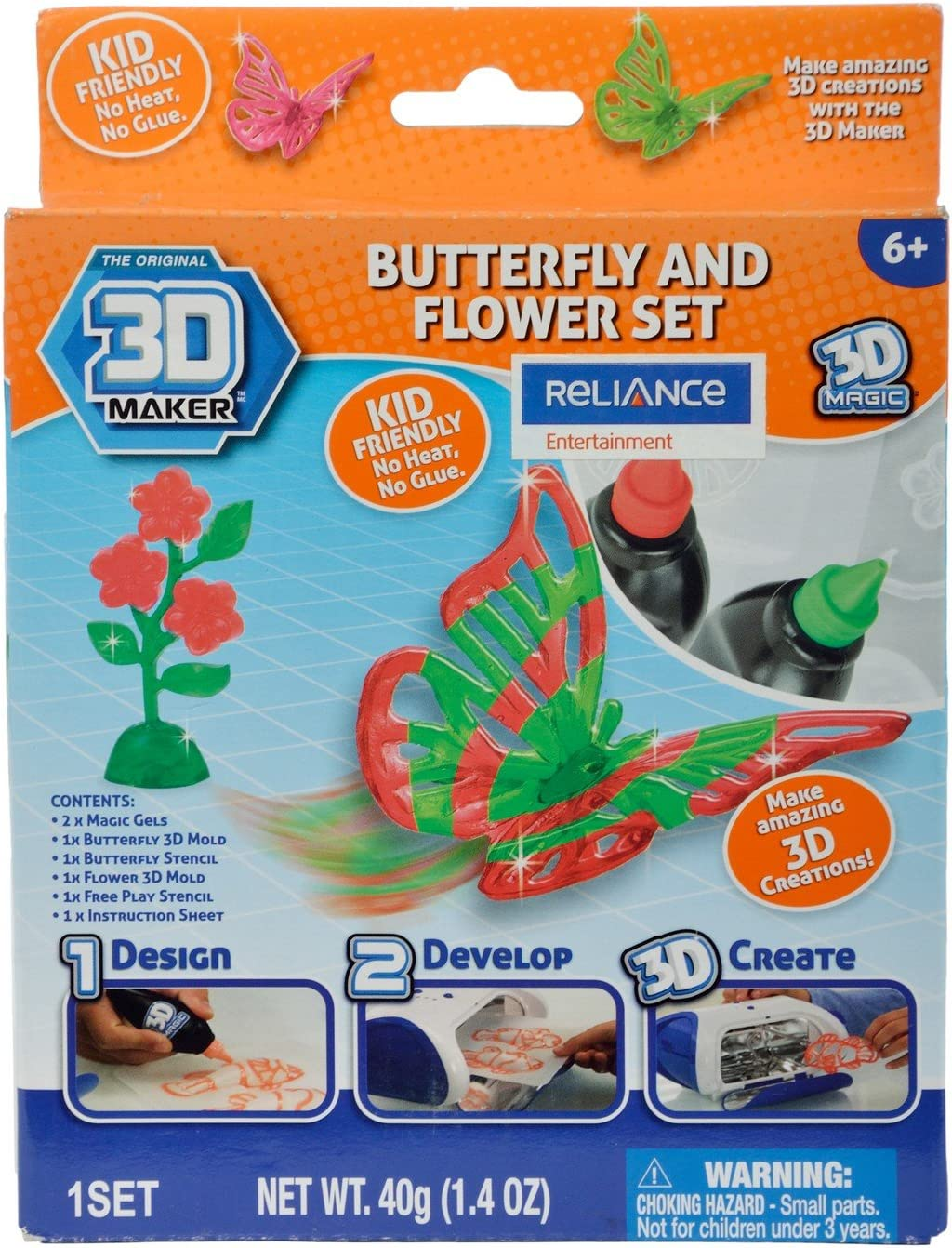 3D Maker Butterfly and Flower Expansion Pack by 3d Magic: Amazon ...