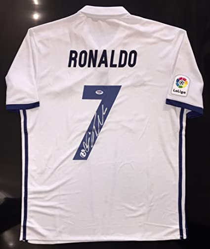 size 40 64efd 05759 Cristiano Ronaldo Autographed Real Madrid Jersey. Signed on ...