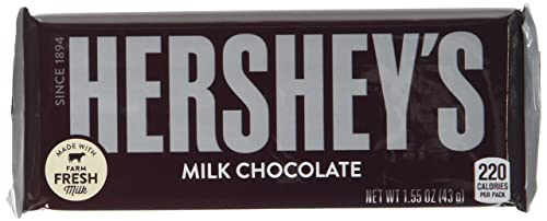 Hershey Milk Chocolate Bar 43 g (Pack of 6)