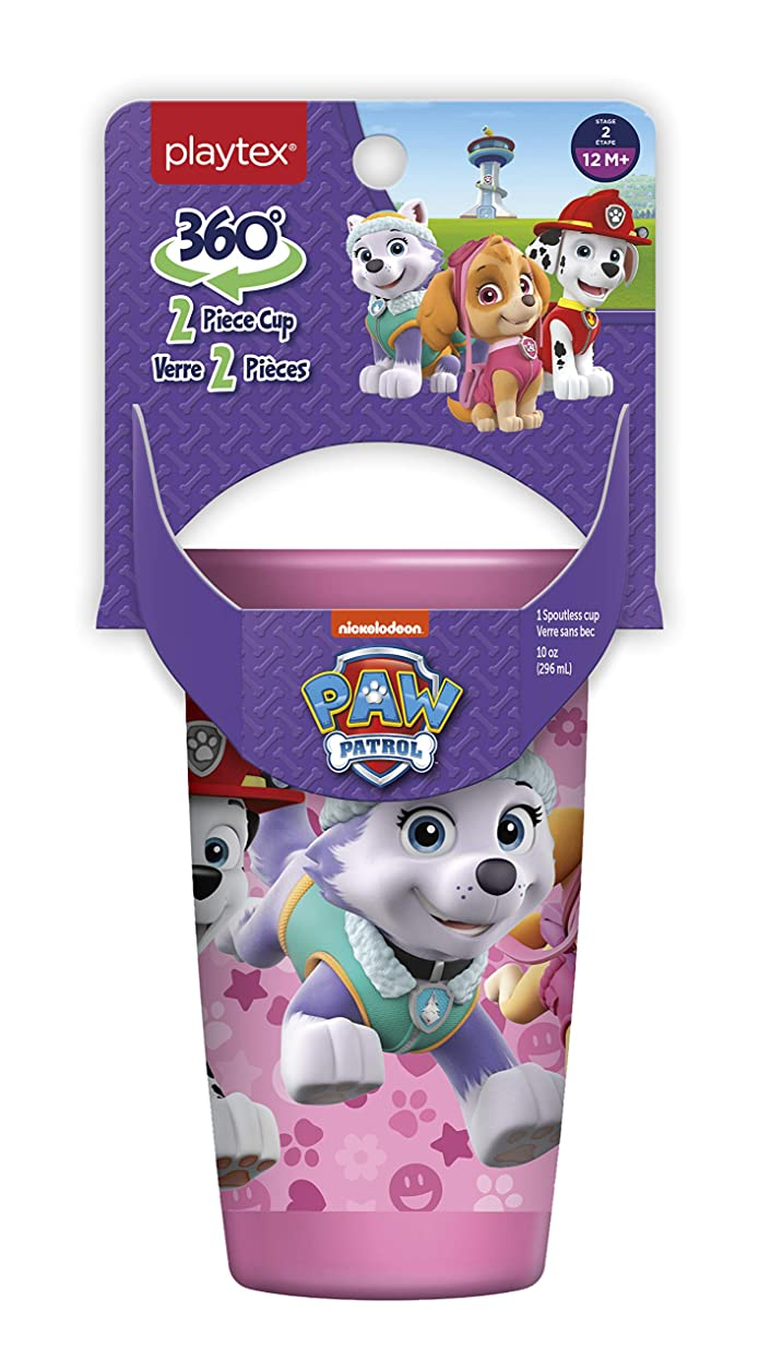 Playtex Sipsters Stage 2 Paw Patrol Girls Spoutless Sippy Cup, 10 oz