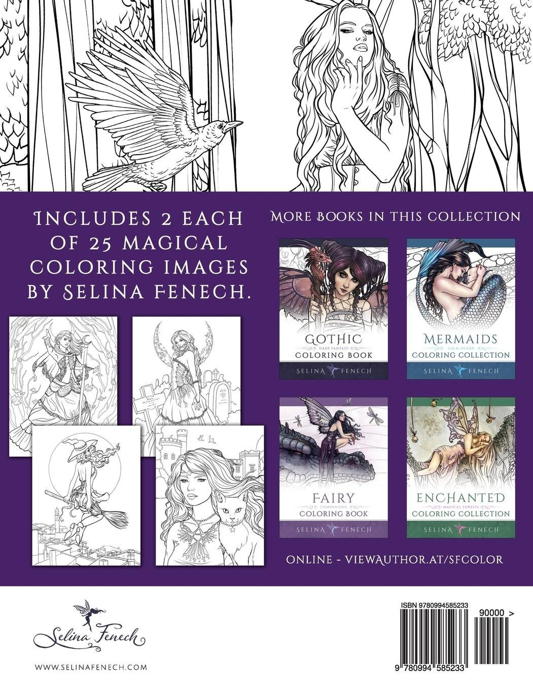 Night Magic - Gothic and Halloween Coloring Book Fantasy ...