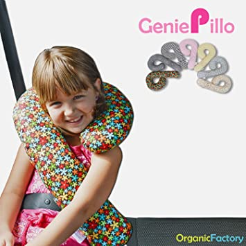 organic factory kids car seat headneck genie pillo_blue