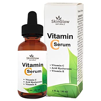 Vitamin C Serum for Face & Eyes by Skin Glow Naturals