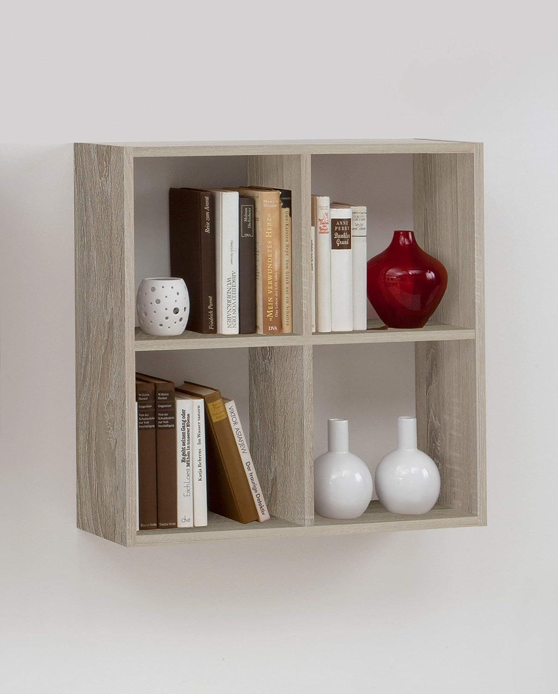 Libreria a muro Mat: Nobilitato. Liberty B9 Dim: 60x19,5x60 h cm Col: Rovere 13Casa