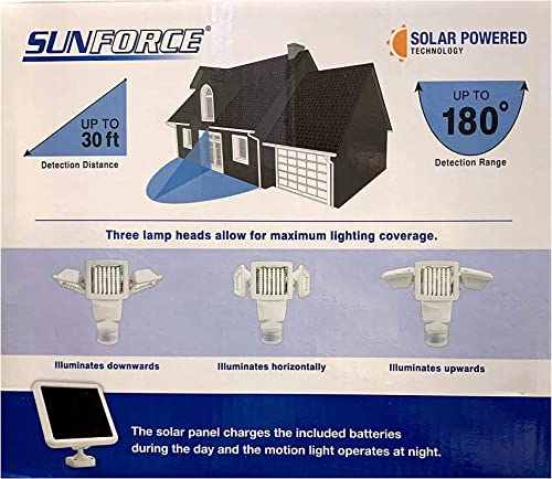 Sunforce Solar Motion Activated Security Light Triple Head 1300 Lumens