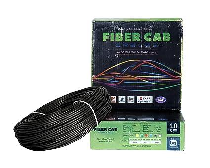 FiberCab DMAK Fiber Cab 1 Sq mm Wire 90 Meter Coil (Black)
