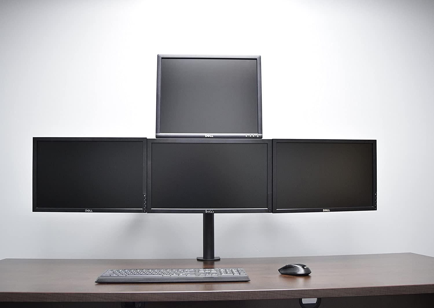 Amazon com vivo triple lcd monitor desk mount stand heavy duty fully - Amazon Com Vivo Quad Lcd Monitor Heavy Duty Desk Mount 3 1 Stand Holds Four Screens Up To 24 Each Stand V004c Computers Accessories