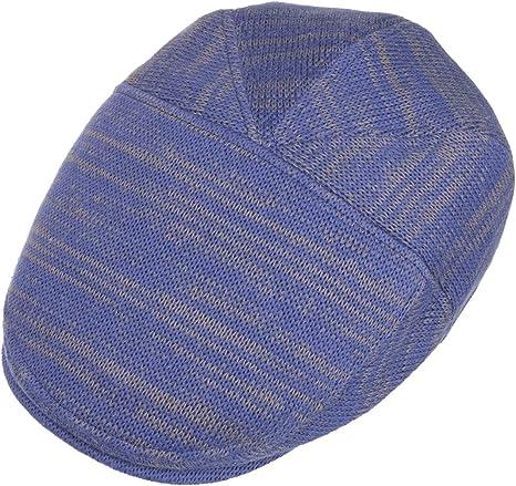de algod/ón Gorro Ivy con Visera Forro Verano//Invierno Stetson Gorra Cotton Knit Hombre