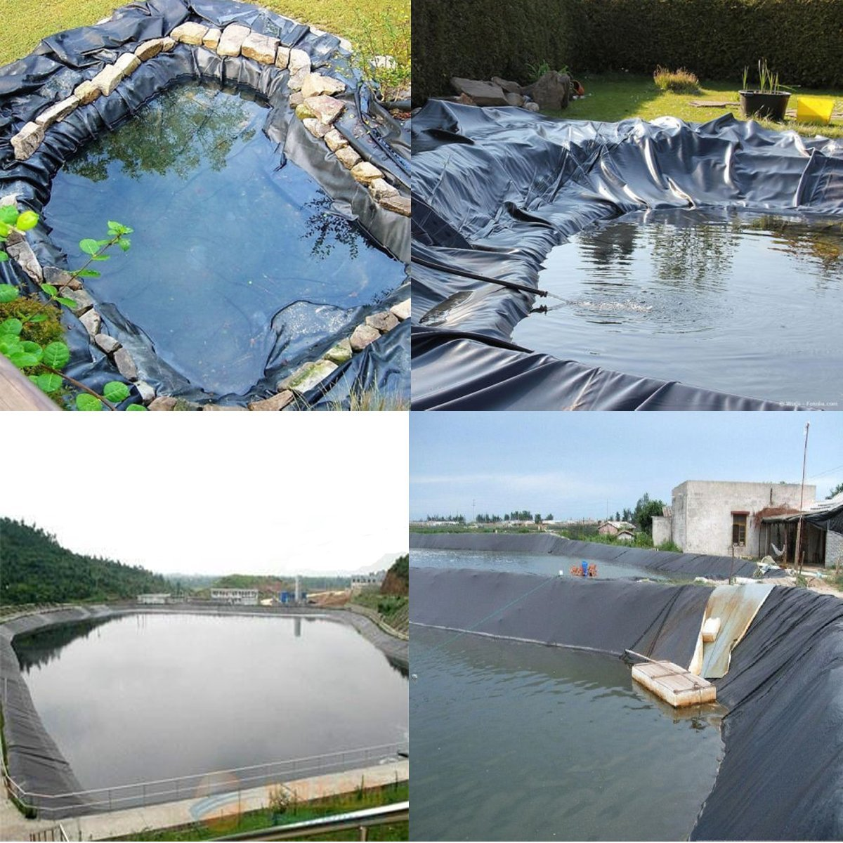 Hitommy Black EPDM Rubber Pond Water Garden Liner Waterproof Impermeable Membrane Mat 1.7x2m 1.7x4m - #1 by Hitommy