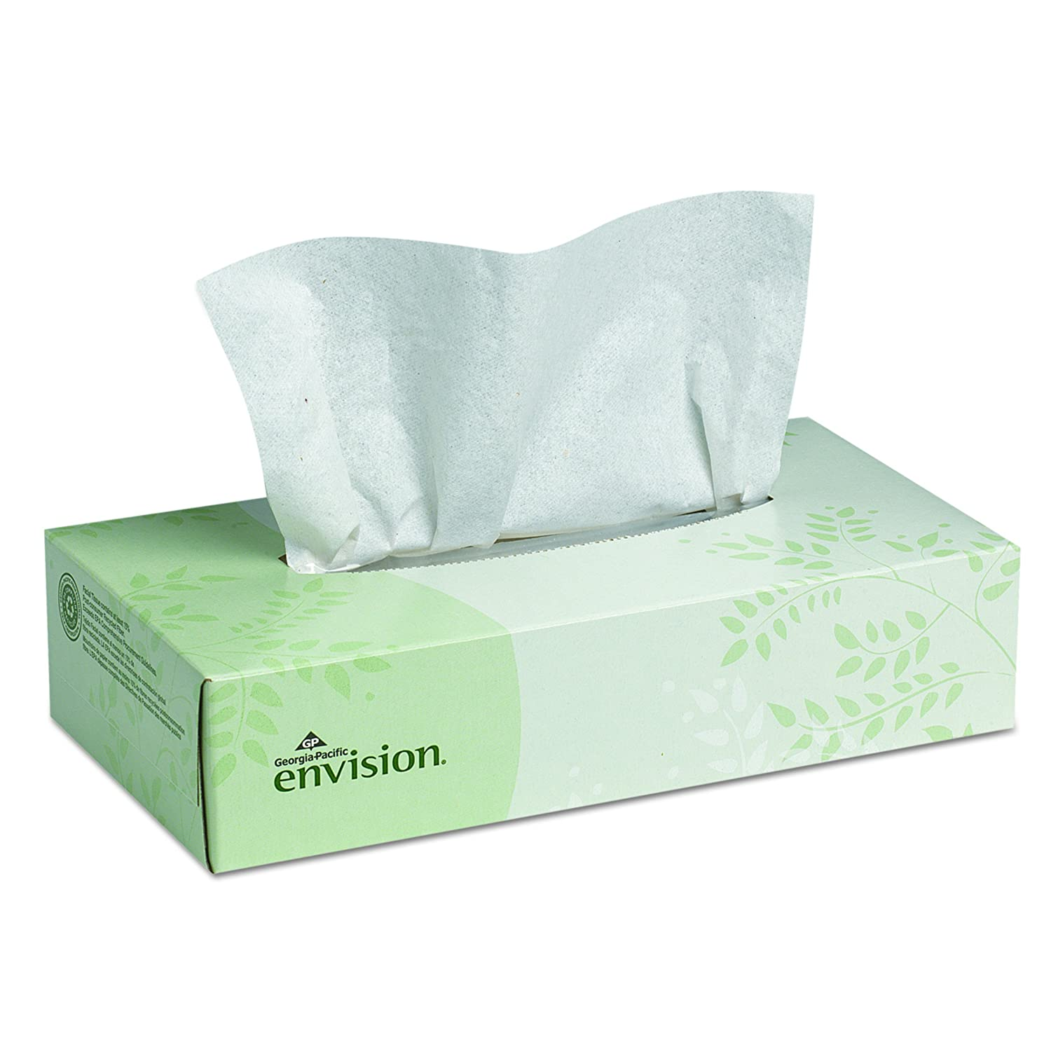 Envision 2-Ply Facial Tissue by GP PRO (Georgia-Pacific), Flat Box, 47410, 100 Sheets Per Box, 30 Boxes Per Case