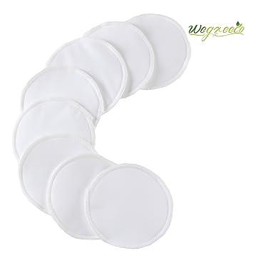 794303c550 Amazon.com   Wegreeco Premium Organic Bamboo Nursing Pad (8 PACK) -  Leakproof Reusable Nursing Pads   Baby