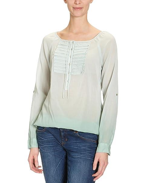 LERROS Blusa de manga larga para mujer, talla 40, color Verde (Quiet Green