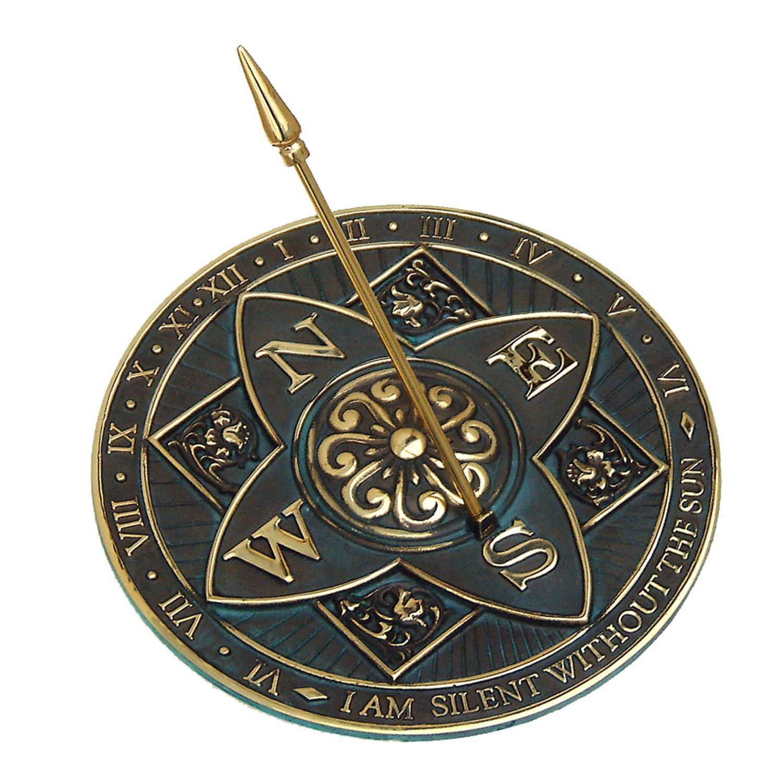 Rome RM2304 Brass Rosette Sundial Rome Industries