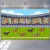 6.1 x 3.6 Pies Decoración Telón de Fondo de Estadio de Cubierta Hipódromo de Césped Carreras de Caballos para…