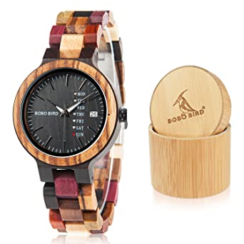 Buy Cheap Bobo Bird Ebony Wood Quartz Wristwatch Lovers Casual Dress Wristwatch With Leather Strap As Gift Relojes Mujer In Wood Box Low Price Watches