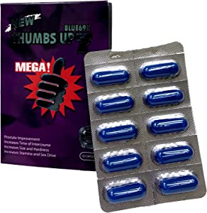 Thumbs Up 7 Blue 69K 10 Capsules Best Male Enhancing Natural Performance Capsules Most Effective Natural Amplifier for Performance, Energy, and Endurance (10 Cap)