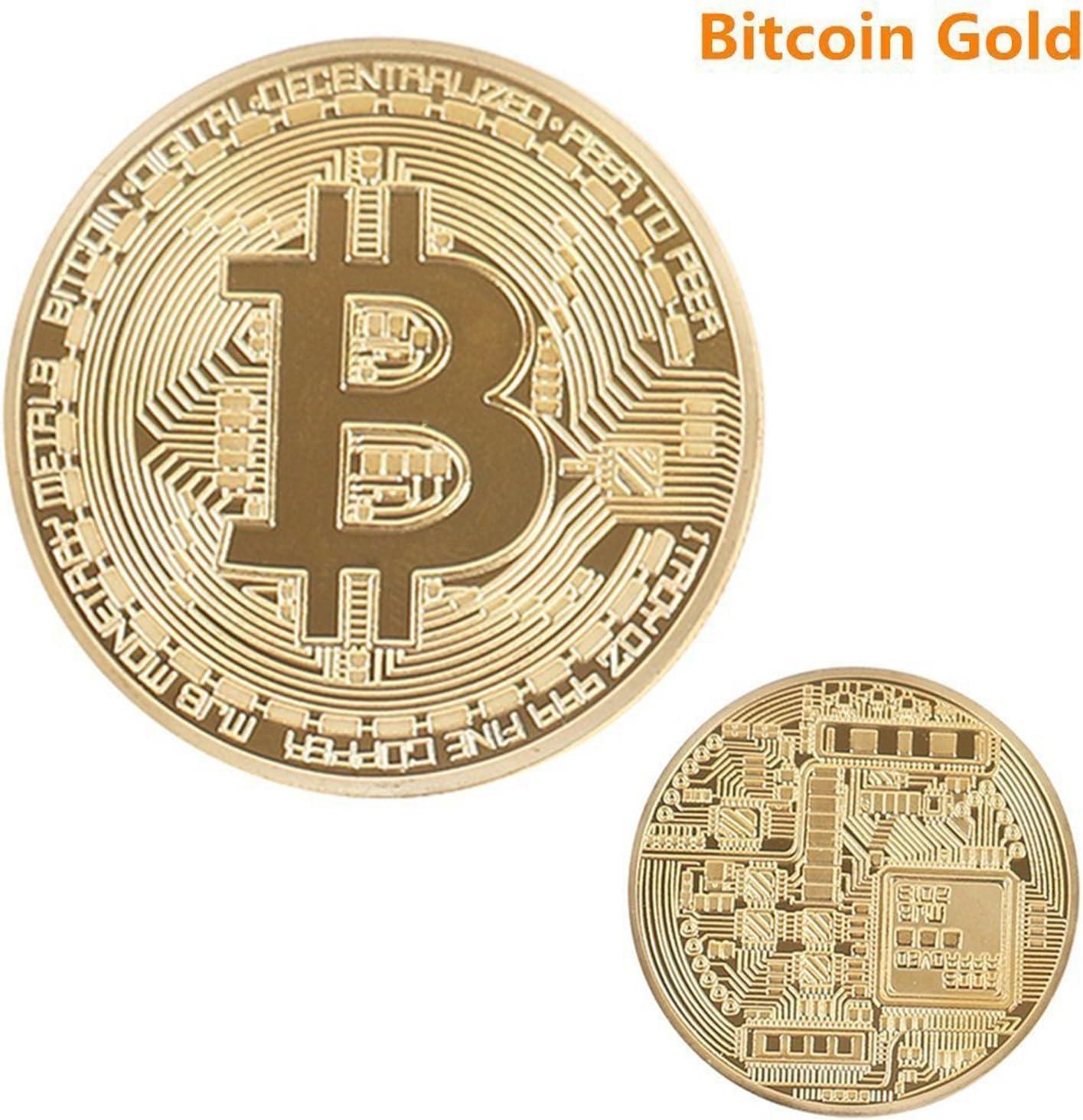 Bitcoin desafío moneda Classic Set de coleccionista | la edición limitada original dorado y bañado en plata y hecho de cobre rojo puro conmemorativa fichas w/una pantalla de plástico caso (Set de