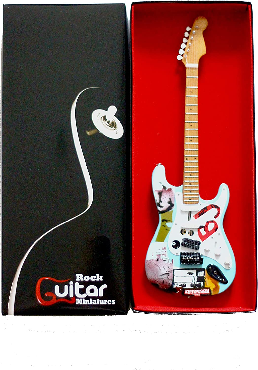 RGM183 Billie Joe Armstrong GREEN DAY Guitarra en miñatura