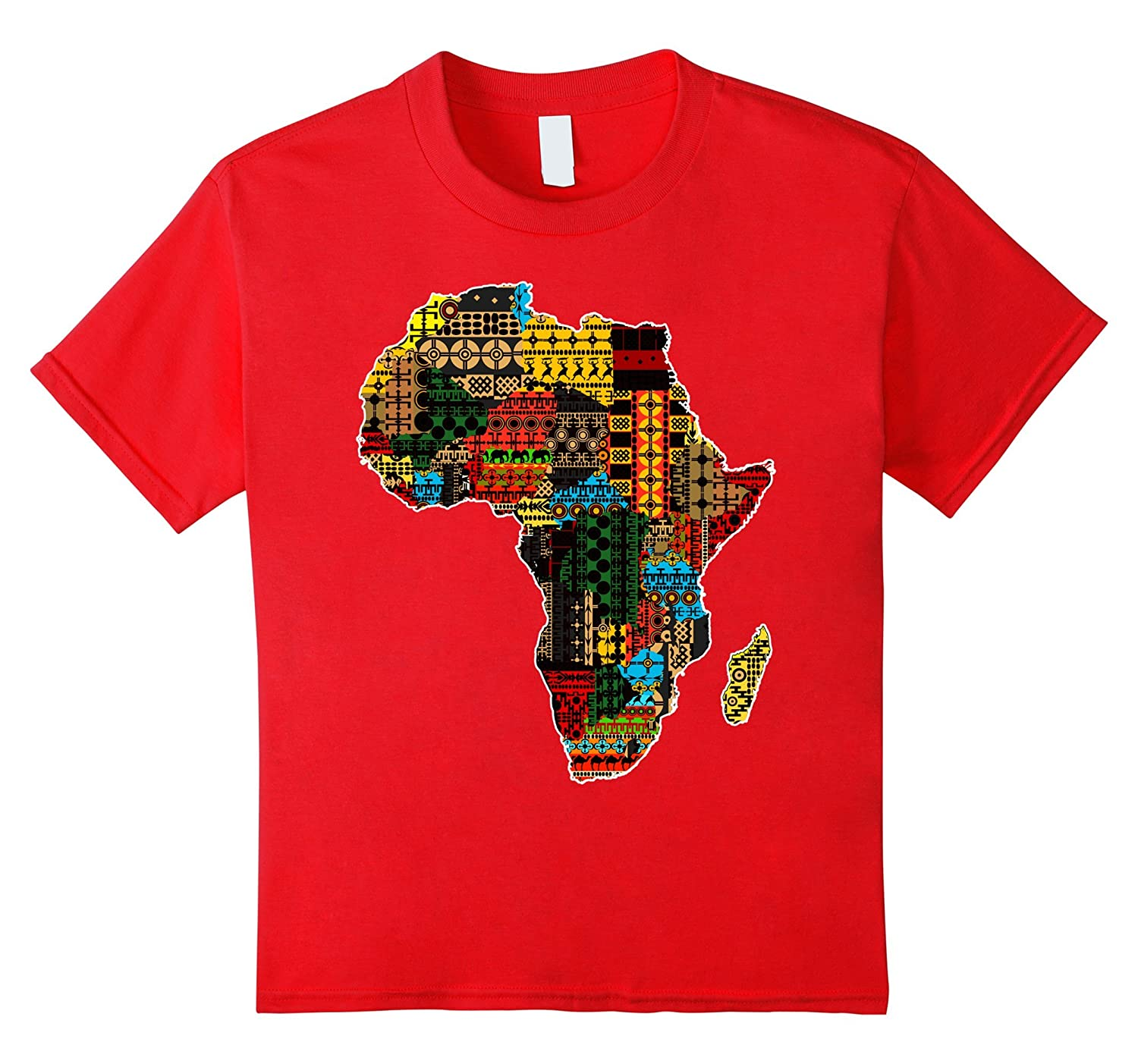 African traditional pattern Africa t shirt-Colonhue