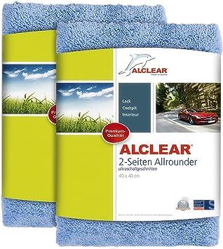 2er Set Alclear Poliertücher 2 Seiten Allrounder Premium Ohne Hologramme F Auto Yachting Poliermaschine 40x40 Cm Blau Auto