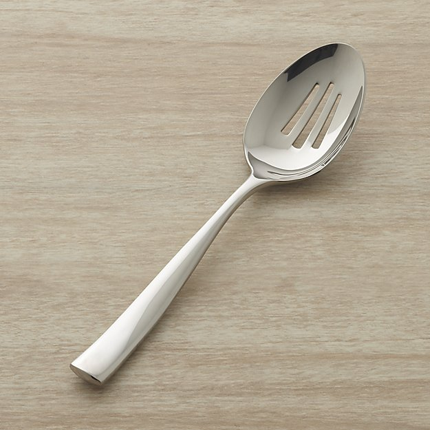 Couture Pierced Serving Spoon | Crate and Barrel