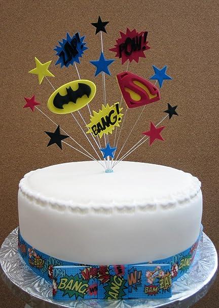 Batman vs Superman Superhero Birthday Cake Topper Suitable For A