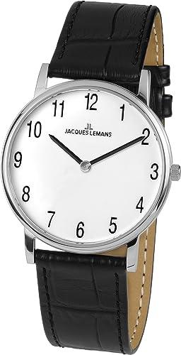 Jacques Lemans Damen-Armbanduhr Vienna Analog Quarz Leder 1-1849B