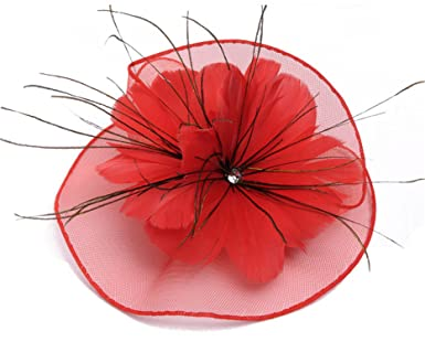 Beverly Stewart 2018 Cheap Bride Hat Wedding Wedfing Fancinetor Bridal Hat Hair Pin Feather Flower Accessories Beige at Amazon Womens Clothing store: