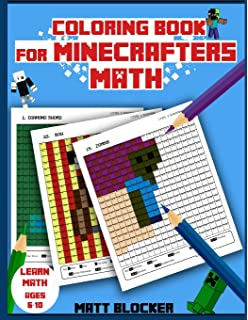 coloring book for minecrafters math coloring book calculate and color squares unofficial minecraft - Minecraft Coloring Book