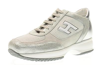 f298adfc6a17 Hogan Sneaker Shoes Low HXW00N03242FOQ09B2 Interactive Size 39 Silver