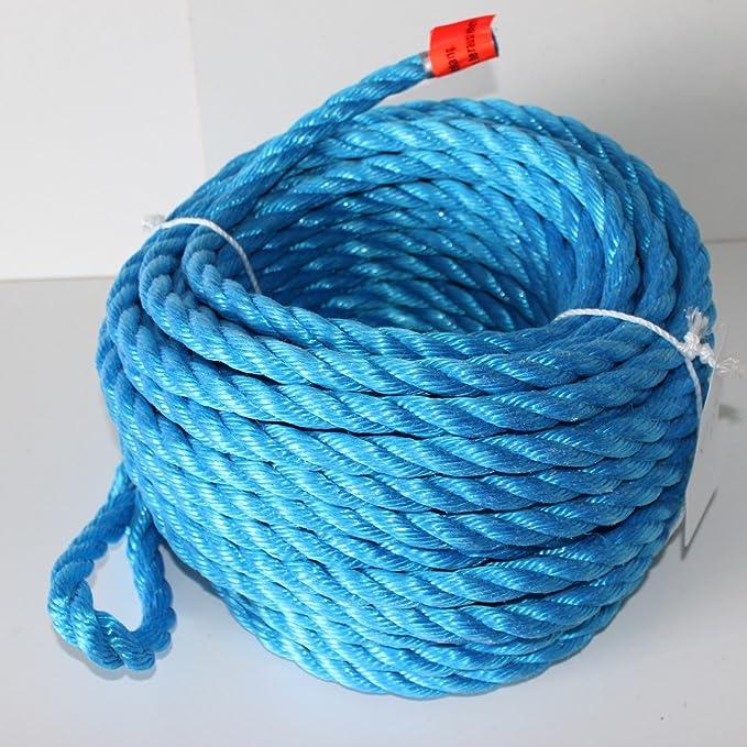 Seilwerk STANKE 40 m Cuerda de algod/ón 30 mm fibras naturales rizada aparejo