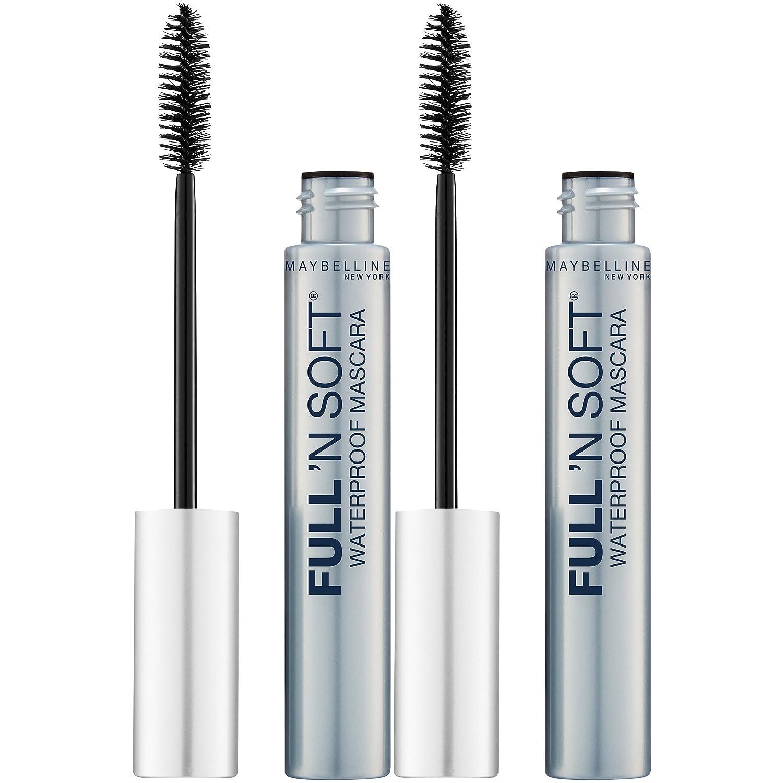 60922cd5b35 Amazon.com : Maybelline New York Full 'n Soft Waterproof Mascara Makeup,  Very Black, 2 Count : Beauty