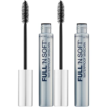 Maybelline New York Full n Soft Waterproof Mascara Makeup, Very Black, 2 Count