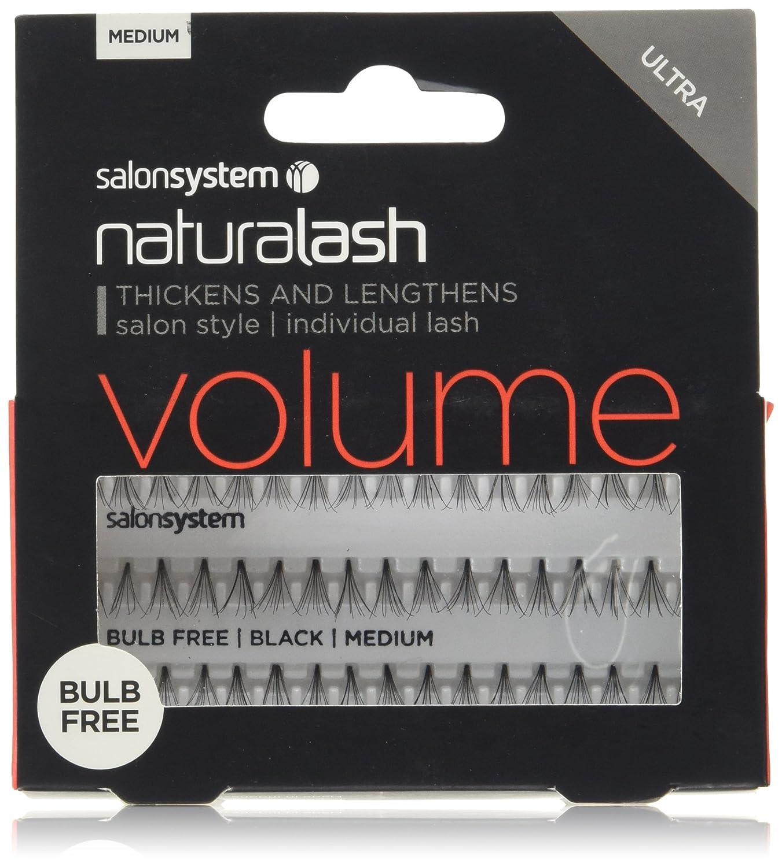 4a4fc200881 Salon System Individual Bulb Free Ultra Black Medium Flare Lashes:  Amazon.co.uk: Beauty
