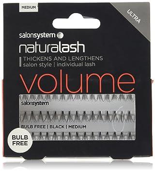 46274f54641 Salon System Individual Bulb Free Ultra Black Medium Flare Lashes ...