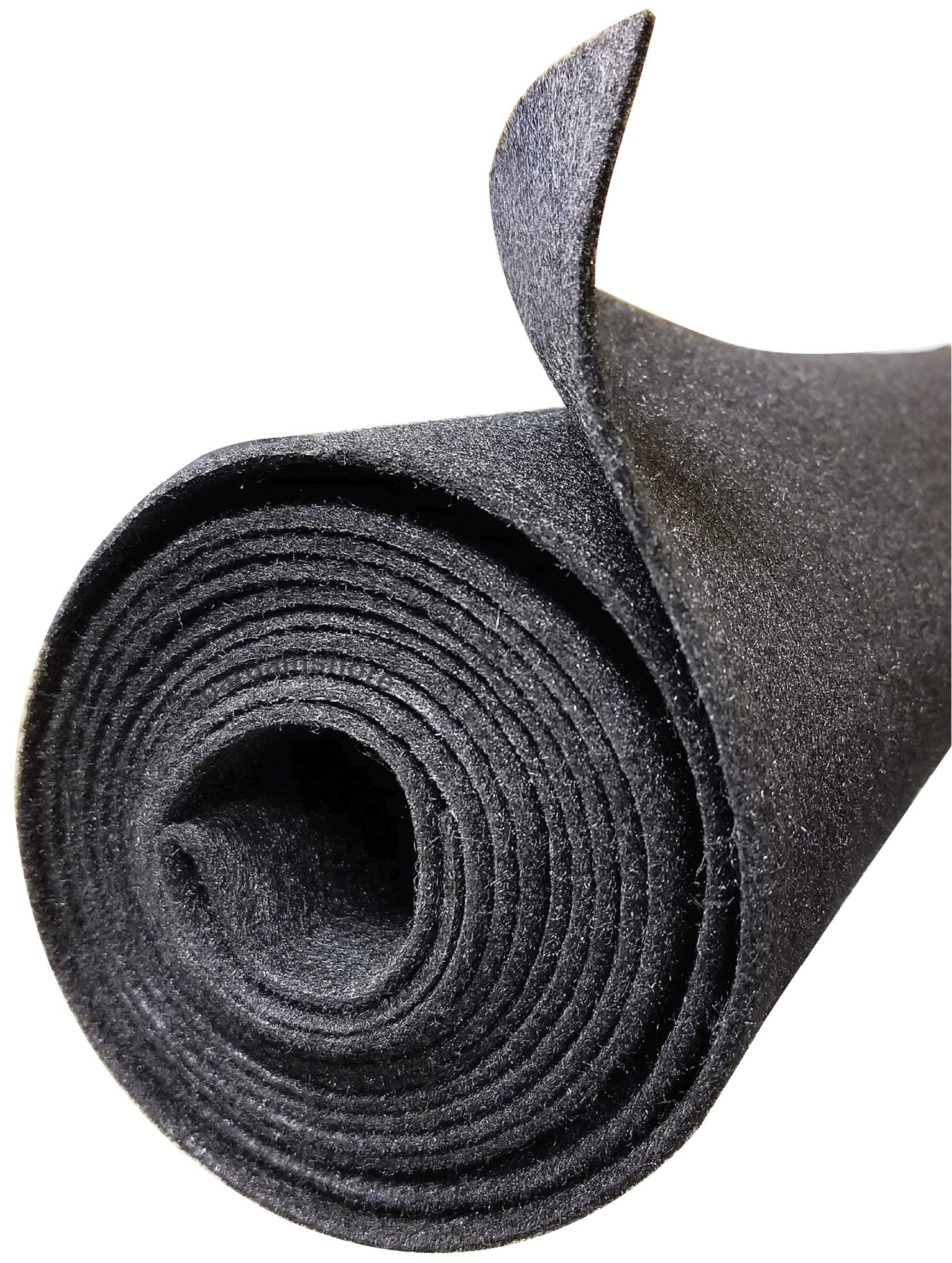 Polymat 3 FEET 4 FEET 3'X4' Charcoal Grey Non Woven Felt Fabric Roll for SubWoofer Speaker Box Enclosure Carpet and Trunk, Crafts, Multipurpose Liner, Latex Backed Felt Carpet