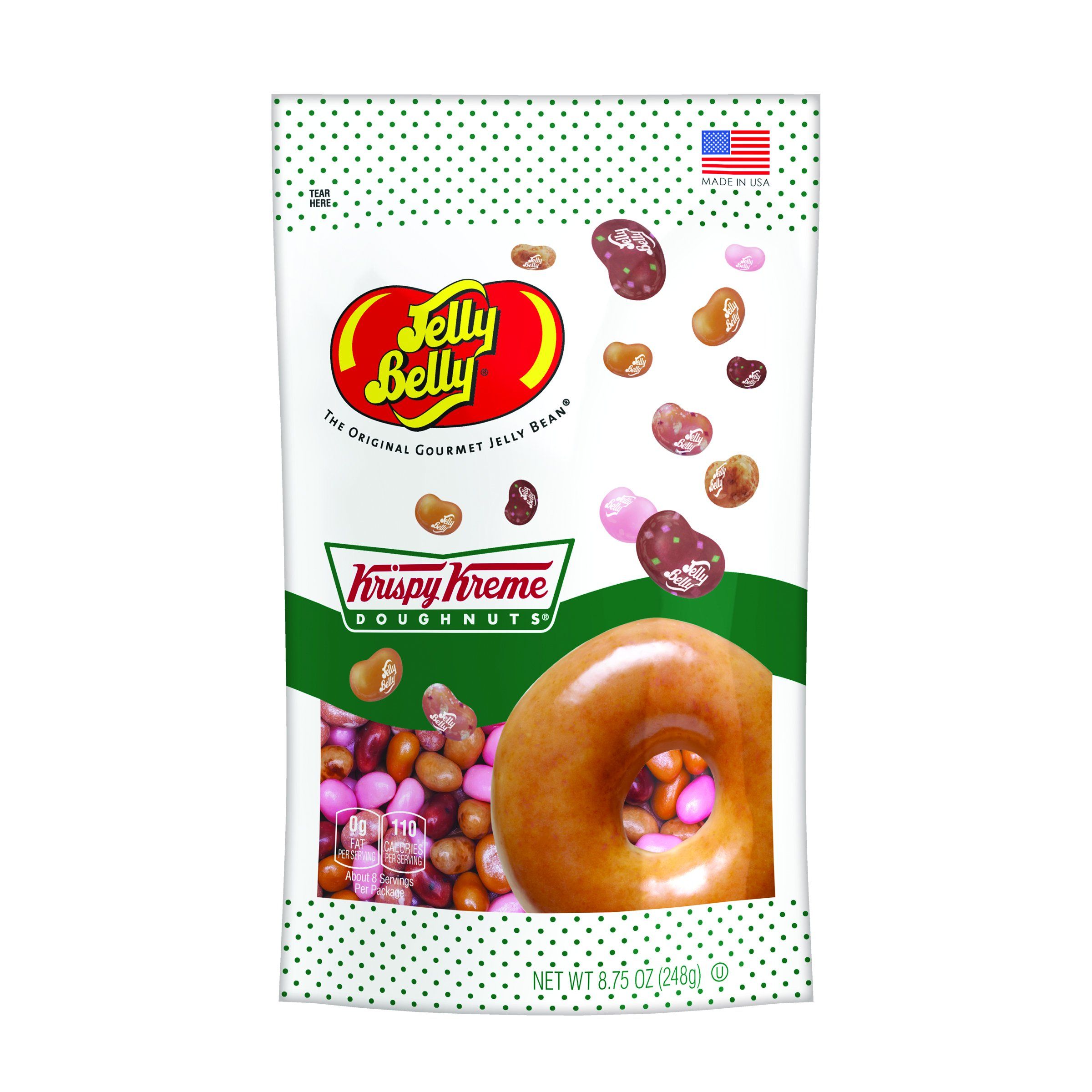 Jelly Belly Krispy Kreme Doughnuts Jelly Beans, 5 Flavors, 8.75-oz by Jelly Belly