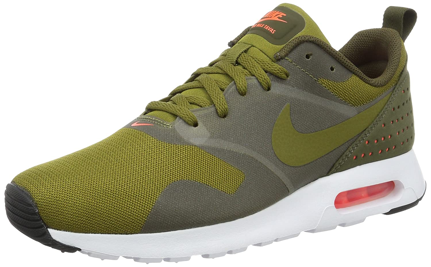 145a92235c4 Nike Men s Air Max Tavas Olive Flak Olv Flk Drk Ldn Wht Running Shoe 8 Men  US  Buy Online at Low Prices in India - Amazon.in