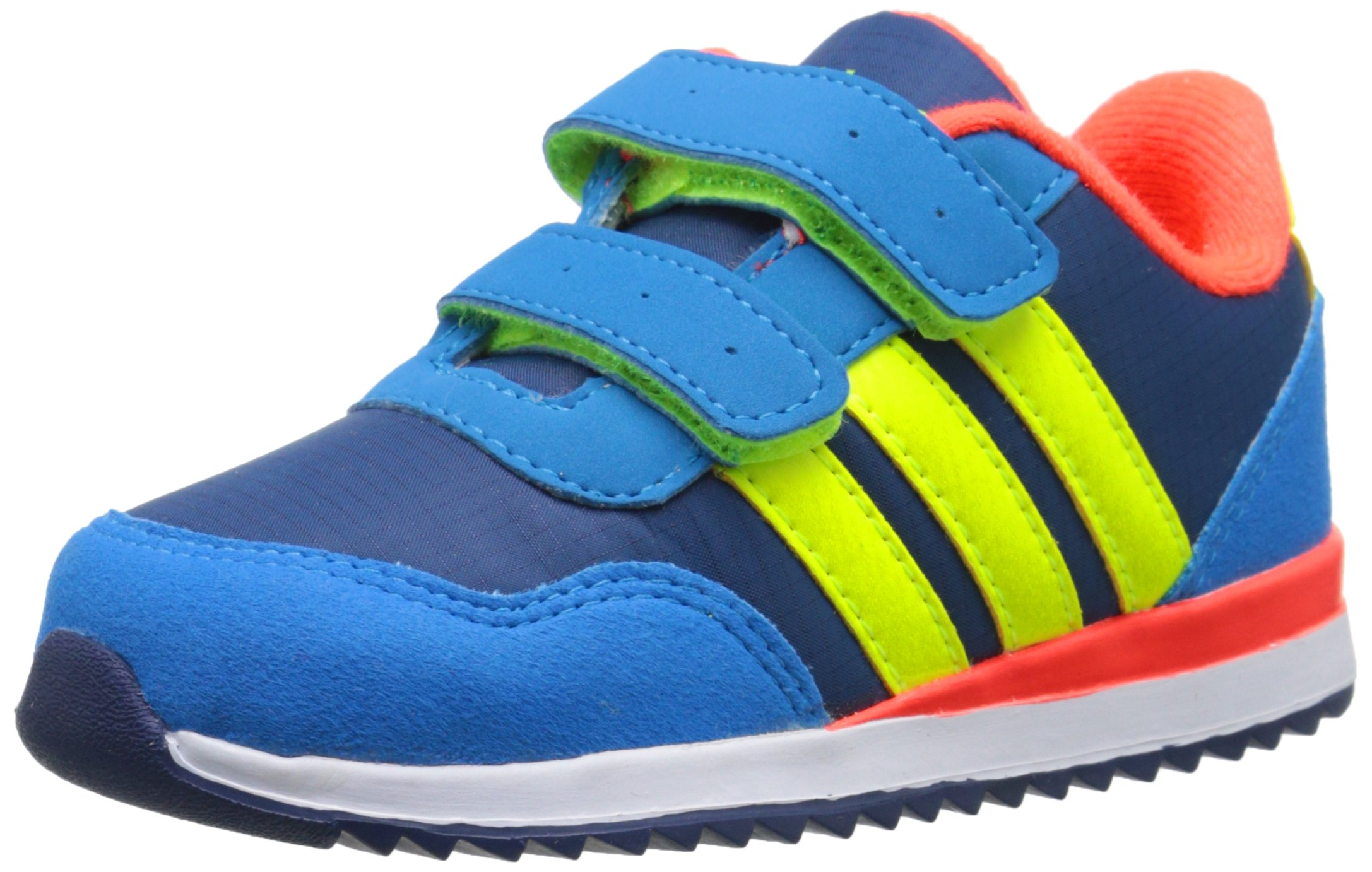 aed91ec8a17 ... uk galleon adidas neo v jog cmf inf runner sneaker infant toddler blue  solar yellow red
