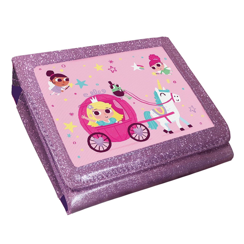 Princess Unicorn Animated 3D Pink Glitter Case (Nintendo 2DS)