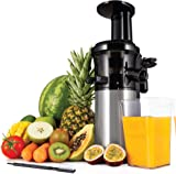 Andrew James Masticating Slow Juicer Machine | Juices Various Fruit & Veg | Oranges Apples Carrots | Makes Nutritious Fresh Juice with Minimum Waste | 200W