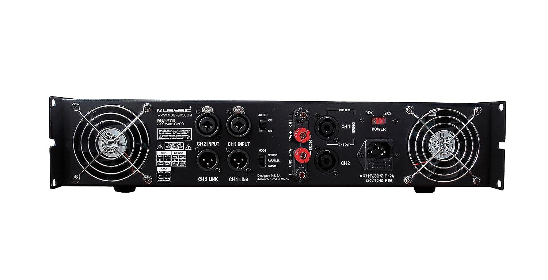 Amazon.com: MUSYSIC Professional 2 Channel 7000 Watts DJ PA Power Amplifier Signal out MU-P7K: Musical Instruments